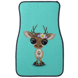 Cute Baby Deer Hippie Car Mat