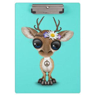 Cute Baby Deer Hippie Clipboard