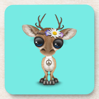 Cute Baby Deer Hippie Coaster