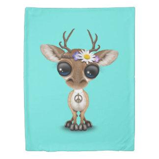 Cute Baby Deer Hippie Duvet Cover