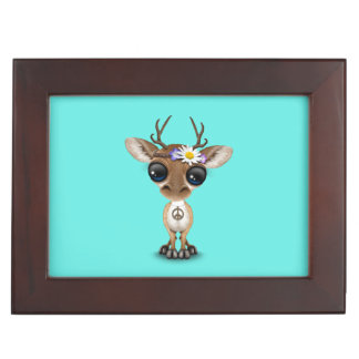 Cute Baby Deer Hippie Keepsake Box