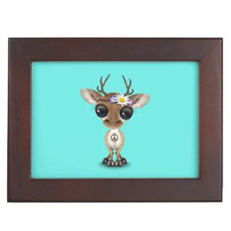 Cute Baby Deer Hippie Keepsake Box