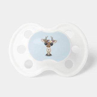 Cute Baby Deer Hippie Pacifier