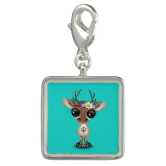 Cute Baby Deer Hippie Photo Charms