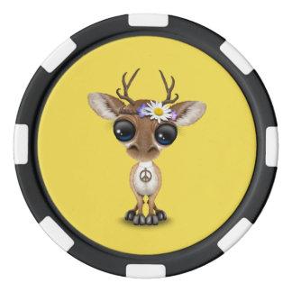 Cute Baby Deer Hippie Poker Chips