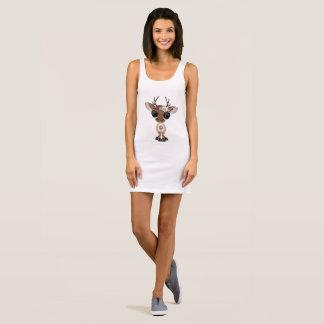 Cute Baby Deer Hippie Sleeveless Dress