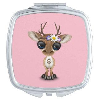 Cute Baby Deer Hippie Vanity Mirror