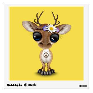 Cute Baby Deer Hippie Wall Sticker