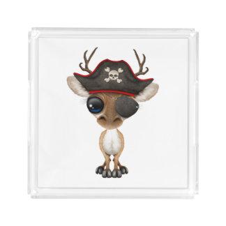 Cute Baby Deer Pirate Acrylic Tray