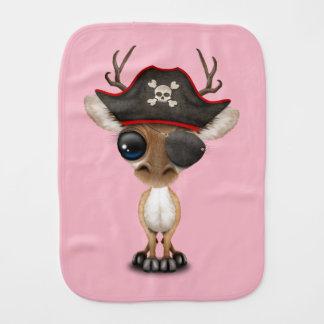 Cute Baby Deer Pirate Burp Cloth