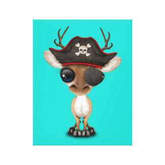 Cute Baby Deer Pirate Canvas Print