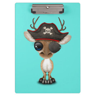 Cute Baby Deer Pirate Clipboard