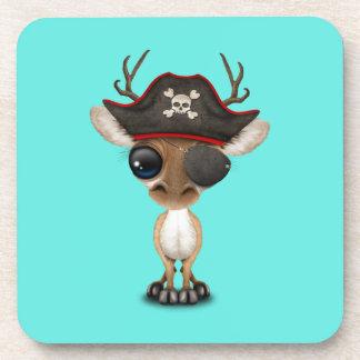 Cute Baby Deer Pirate Coaster