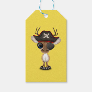 Cute Baby Deer Pirate Gift Tags