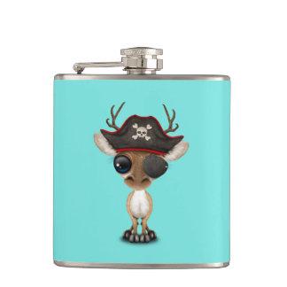 Cute Baby Deer Pirate Hip Flask