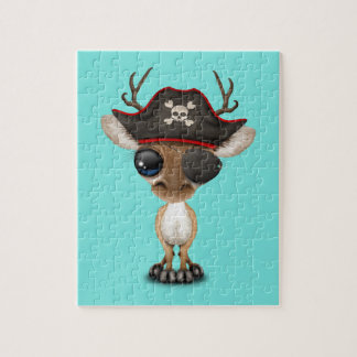 Cute Baby Deer Pirate Jigsaw Puzzle