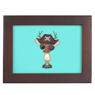 Cute Baby Deer Pirate Keepsake Box
