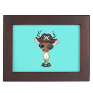 Cute Baby Deer Pirate Keepsake Box