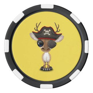 Cute Baby Deer Pirate Poker Chips