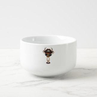 Cute Baby Deer Pirate Soup Mug