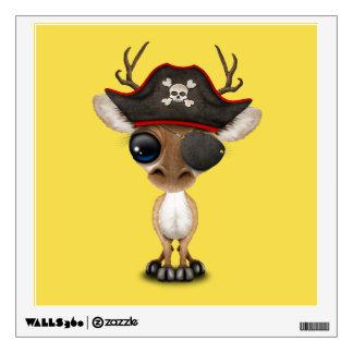 Cute Baby Deer Pirate Wall Sticker
