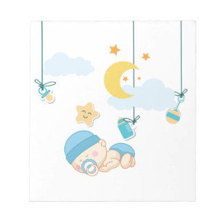 Cute Baby Dreaming Notepad