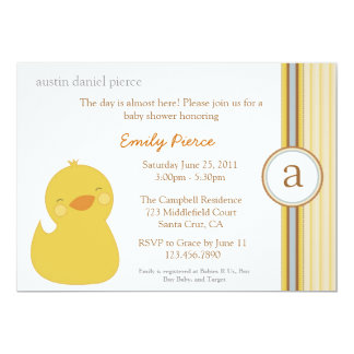 Cute Baby Duck Baby Shower Invite