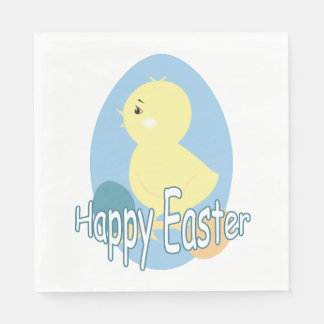 Cute Baby Easter Chick Napkin