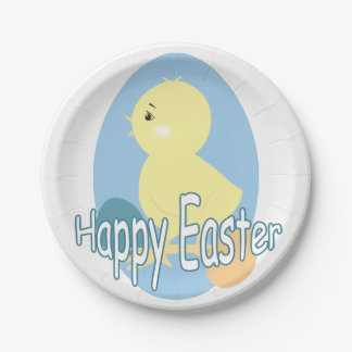 Cute Baby Easter Chick Paper Plate