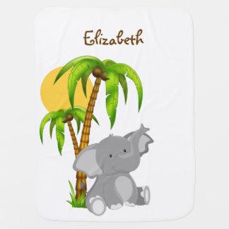 Cute Baby Elephant Baby Blanket