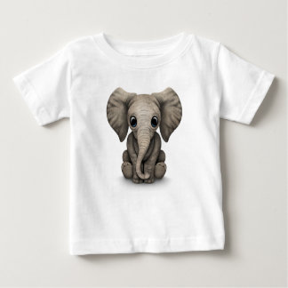 Cute Baby Elephant Calf Sitting Down Baby T-Shirt