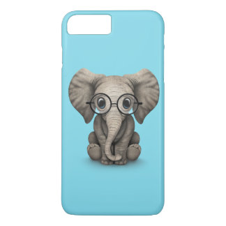 Cute Baby Elephant Calf with Reading Glasses iPhone 7 Plus Case