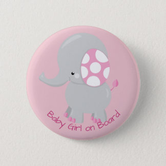 Cute Baby Elephant for Girl 2 Inch Round Button