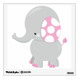 Cute Baby Elephant for Girl Wall Sticker