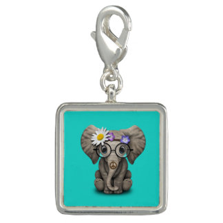 Cute Baby Elephant Hippie Charms