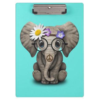 Cute Baby Elephant Hippie Clipboard