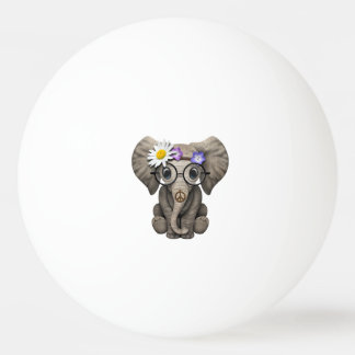 Cute Baby Elephant Hippie Ping Pong Ball
