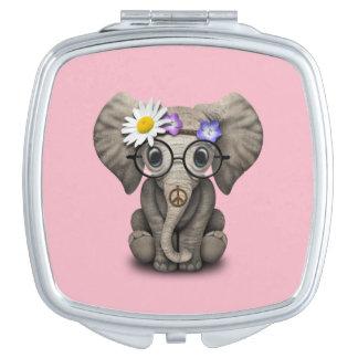 Cute Baby Elephant Hippie Travel Mirror