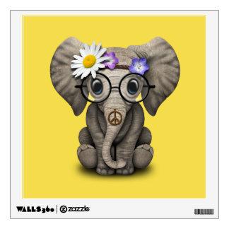 Cute Baby Elephant Hippie Wall Sticker