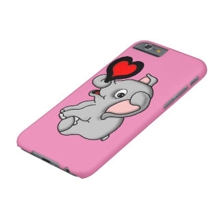 Cute Baby Elephant Holding a Heart Barely There iPhone 6 Case