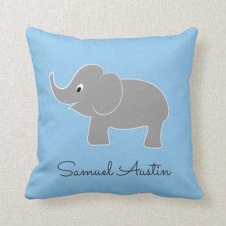 Cute Baby Elephant   Nursery Throw Pillow
