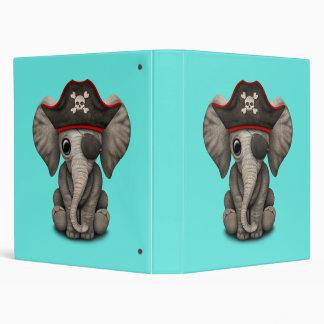 Cute Baby Elephant Pirate 3 Ring Binders