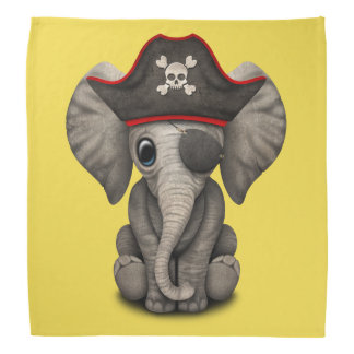 Cute Baby Elephant Pirate Bandana