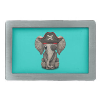 Cute Baby Elephant Pirate Belt Buckles