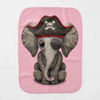 Cute Baby Elephant Pirate Burp Cloth