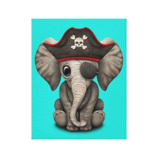 Cute Baby Elephant Pirate Canvas Print