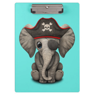 Cute Baby Elephant Pirate Clipboard