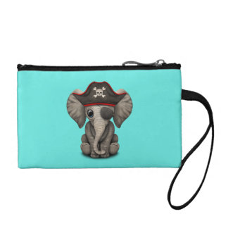 Cute Baby Elephant Pirate Coin Purse