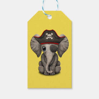 Cute Baby Elephant Pirate Gift Tags