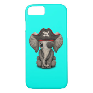 Cute Baby Elephant Pirate iPhone 8/7 Case